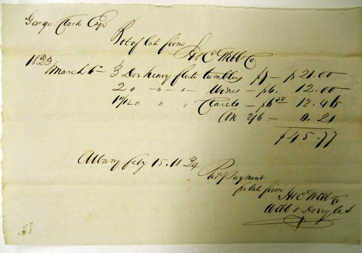1833-receipt-for-wine-glasses-from-Webb