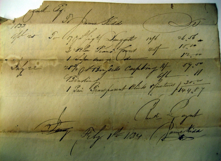1834-receipt-to-J-Kidd-for-carpeting-piano-Stool