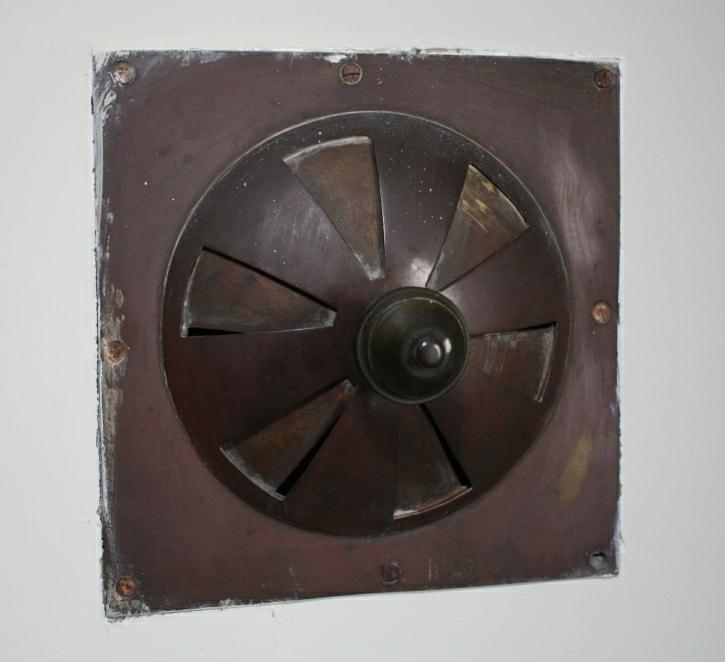 Nursery Brass Heating Vent, Service Wing (1832-1834) brass vent