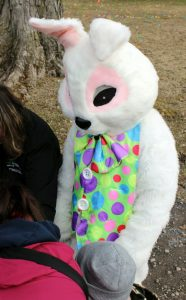 The Easter Bunny pays a special visit to Hyde Hall.