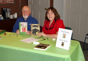 Paul Kuhn and Trish Kane at our featured author table.