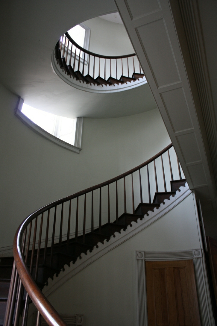 Main Staircase, Hyde Hall, Springfield, New York