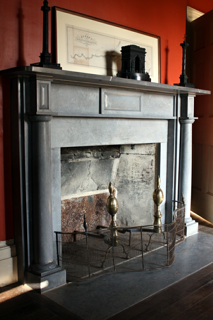 (ARC8) Builder's Office Mantel (1) (Bennington Marble - Abraham Labagh - 1819)