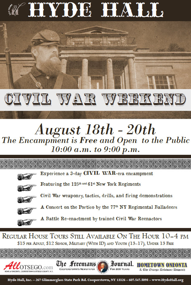 Civil War Weekend | Hyde Hall - Cooperstown, NY