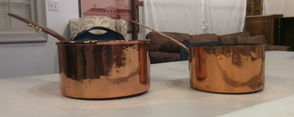 Copper Pots - Hyde Hall Kitchen Restoration